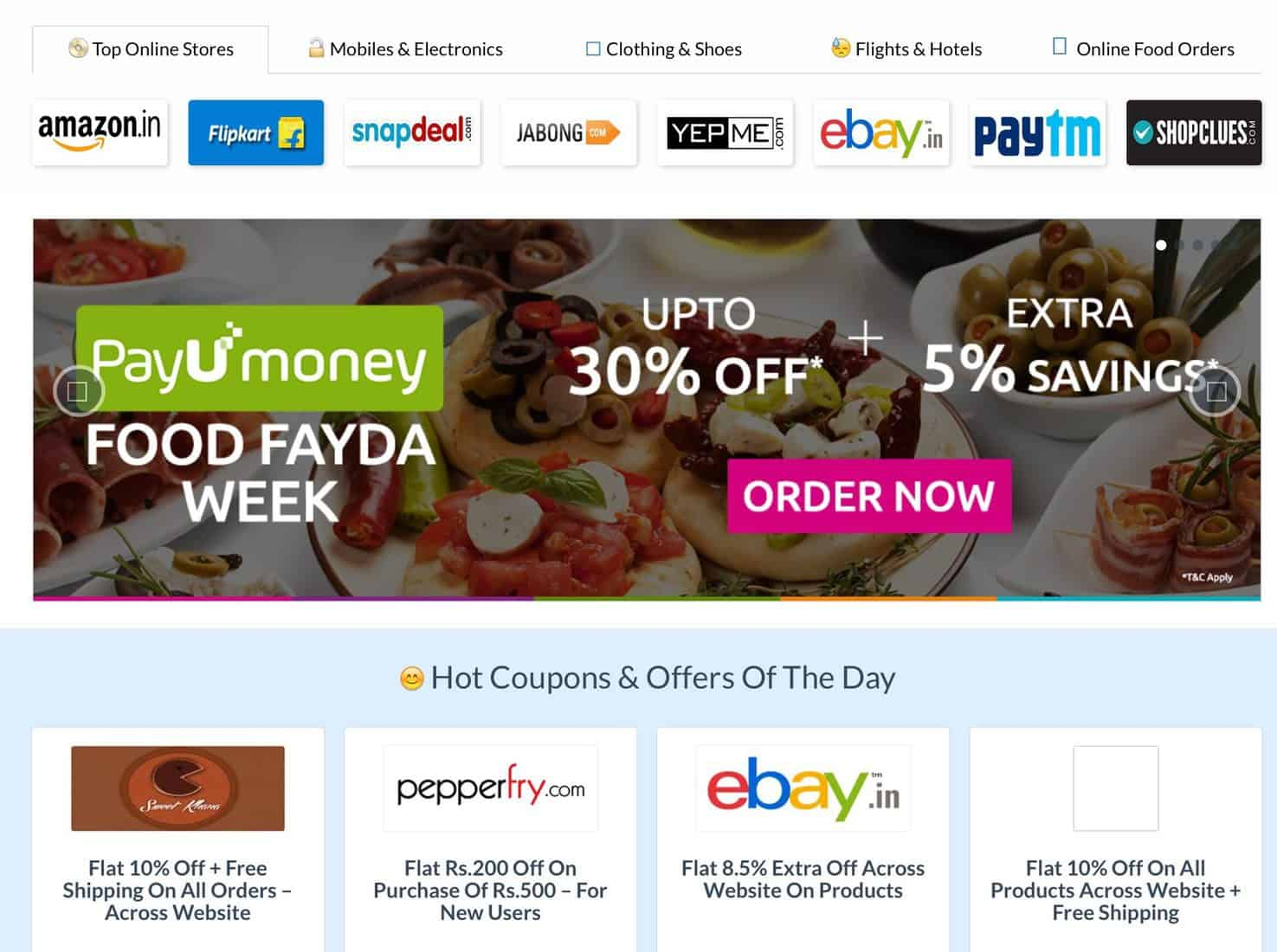 Couponzguru best online shopping deals site for you for Online discount shopping sites