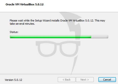 VirtualBox is installing