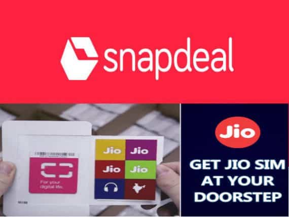 Reliance JIO SIM and Snapdeal