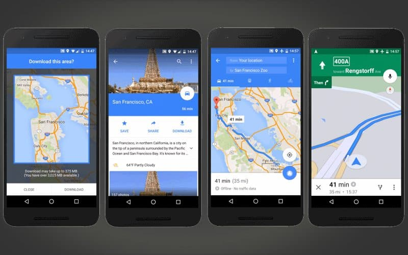 Google Maps for Android brings Offline Navigation and Search on google chrome search, google sync android, google maps android icon, city maps 2go android, google docs offline android,