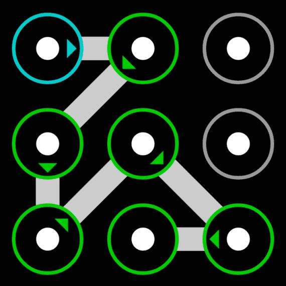 pattern lock ideas using 7 dots