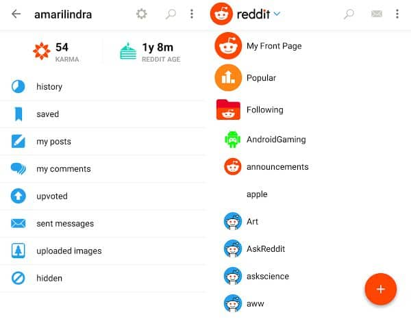 Reddit official app for Android