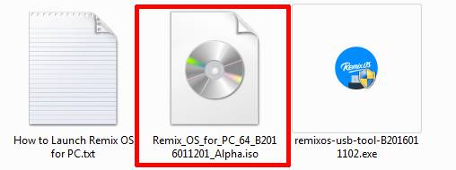 ISO file of Remix OS