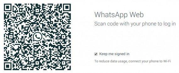 scan qr code to use whatsapp web