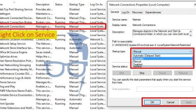 how to set a service to automatic