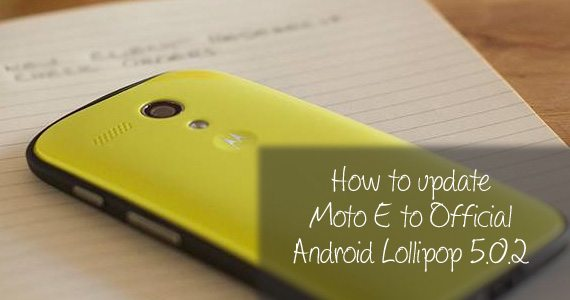 Moto e android lollipop update india
